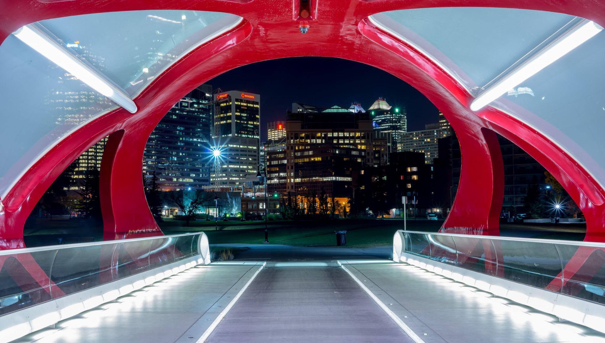 Calgary Peace Bridge Downtown