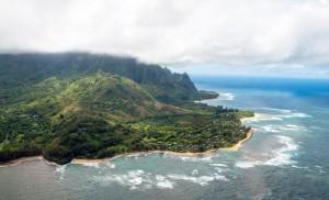 Hanalei Bay Kauai Hawaii From Air