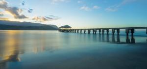 Hanalei Bay Peer Kauai Hawaii