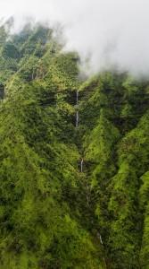 Napali Coast Kauai Hawaii from Helicopter