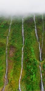 Napali Coast Kauai Hawaii Inside Dormant Volcano from Helicopter